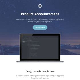 email templates for product announcements templates