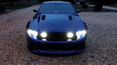 2013 mustang gt fog lights 2013 ford mustang gt fog light tint night view with fog