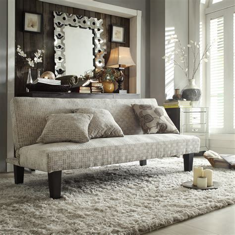 oxford creek dover gray chevron futon sofa home