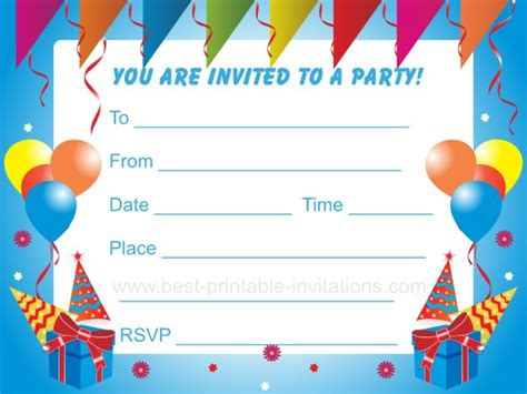 fearsome kids birthday party invitation theruntime com