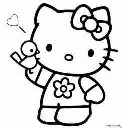 Hello kitty coloring pages printable pages a colorier