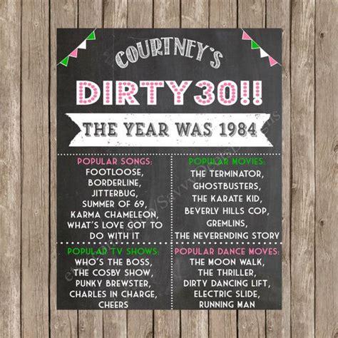 Dirty   Ee  Birthday Ee   Chalkboard Sign Printable