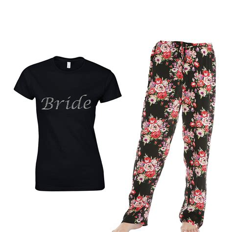 braut pyjama bridal floral pyjamas pajamas personalised bride pjs