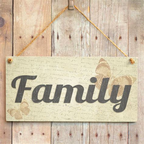 family handmade shabby chic home decor sign plaque