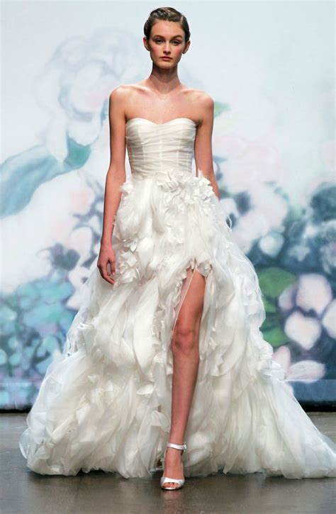 Wedding Dresses Lhuillier by Daring 2012 Wedding Dresses Show A Leg