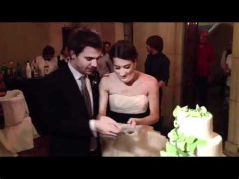 charles and alli wedding charles trippy and alli speed cut wedding cake
