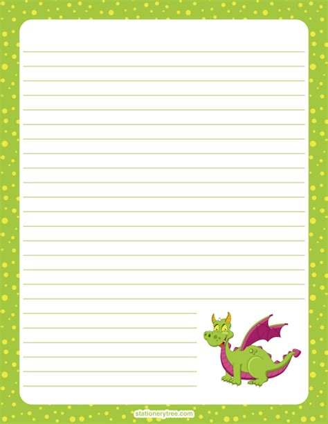 Printable Dragon Stationery | dragon stationery and writing paper notes stationery