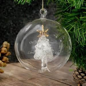 personalised handmade glass christmas tree bauble