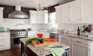 Cream Kitchen Cabinets With Chocolate Glaze white kitchen stained island amp pantry with bianco antico