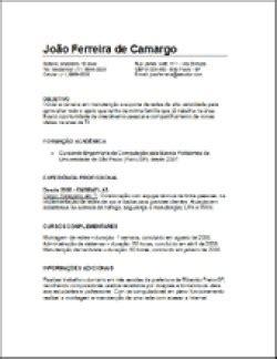 Modelo De Curriculum Utilizado En Espaã A 5 Modelos De Curr 237 Culo E Como Fazer Um Curriculum Ce 227 O