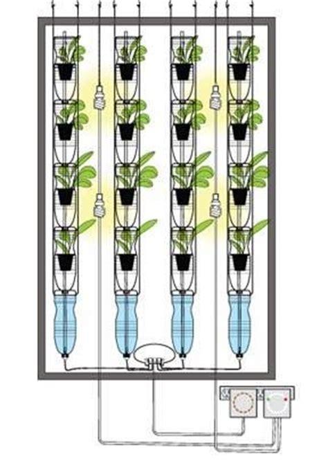diy water bottle vertical garden by windowfarm planted