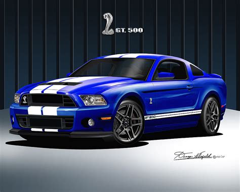 2014 mustang gt impact blue 2013 2014 ford mustang prints posters by danny