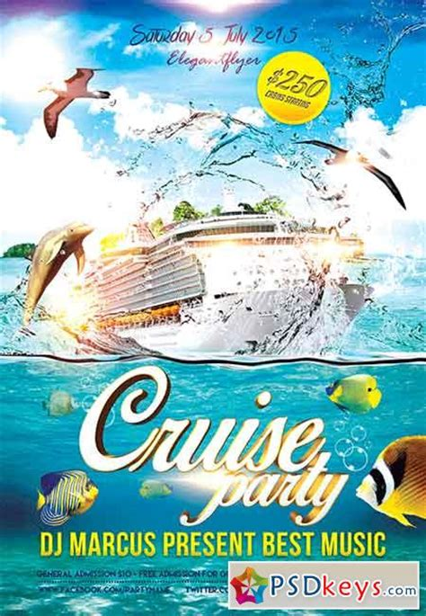 Cruise Party Flyer Psd Template Fb Cover A Free Downl And Cruise Party Premium Flyer Template Cruise Flyer Template Free