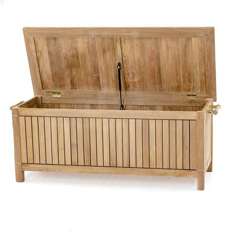 teak bench with storage somerset teak cushion storage dock box and chest
