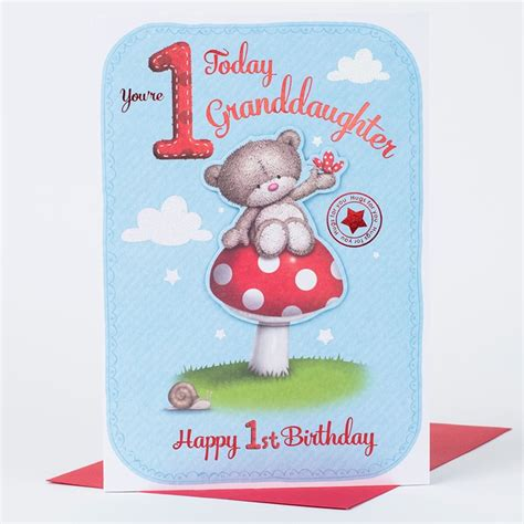 1st Birthday Cards Hugs 1st Birthday Card Granddaughter Only 163 1 49