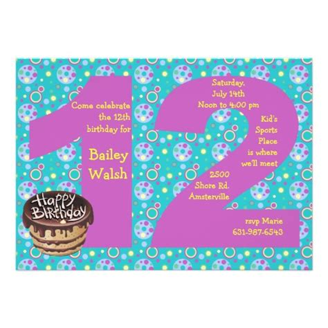 free printable birthday invitations 12 year olds 12 year old birthday invitations for girls