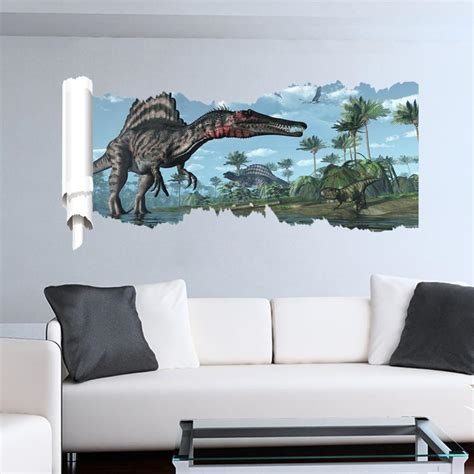 Wall Sticker In The Park 3 different jurassic park mural dinosaurs wall stickers dealeaz