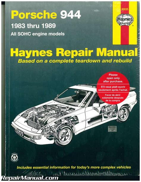 haynes porsche 944 1983 1989 auto repair manual