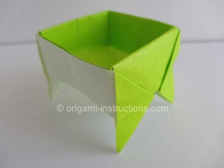 Origami Standing - origami standing container folding origami