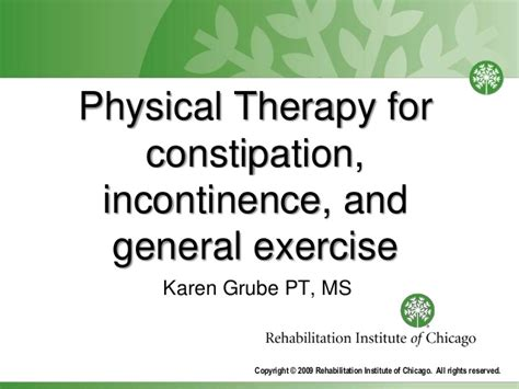physical therapy for constipation incontinence and