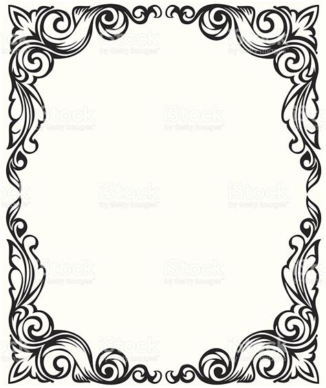 pattern frame drawing drawing frame ornament stock vector art 92896547 istock