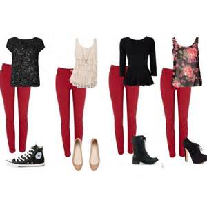 what goes with pink quot what to wear with red jeans quot what to wear pinterest