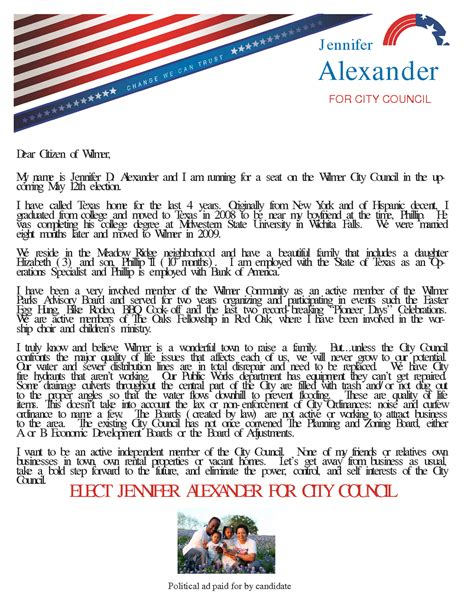 wilmer citizen city council candidate