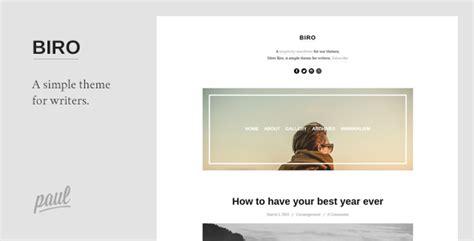Blogger Themes 2015 Minimalist | plantillas wordpress biro a minimalist blog theme