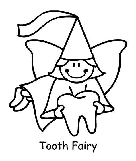 Coloring Page Of Tooth Fairy | coloring pages for tooth fairy tooth fairy