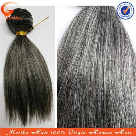 grey human hair extensions mixed gray weave human hair curly hairstyle 2013