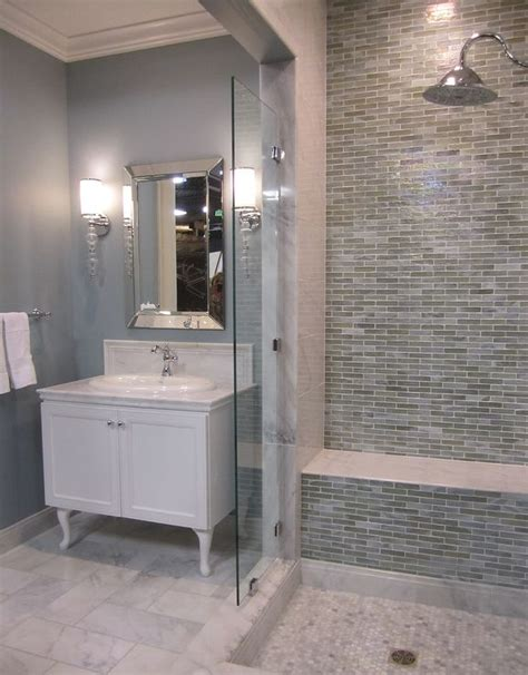 Blue And Gray Bathroom Ideas by 35 Blue Grey Bathroom Tiles Ideas And Pictures