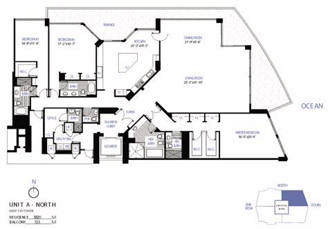 individual floor plans of luxury condo units blu condos floorplans for bellini condo bal harbour miami florida