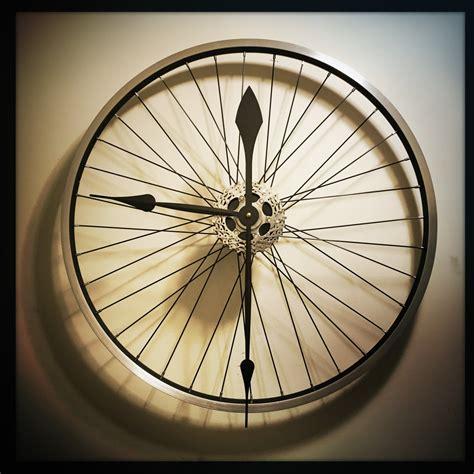 neat clocks bike wheel clock large wall clock unique clock by