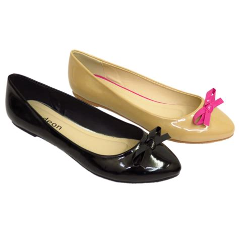 flat pumps shoes womens or black flat slip on patent pointy toe pumps