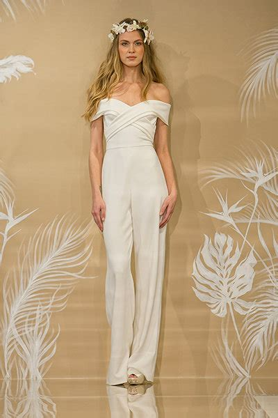 Wedding Dress Jumpsuit by 35 Gorgeous Pantsuits And Jumpsuits For Brides Bridalguide