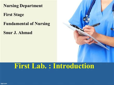 fundamental of nursing introduction 1 lab