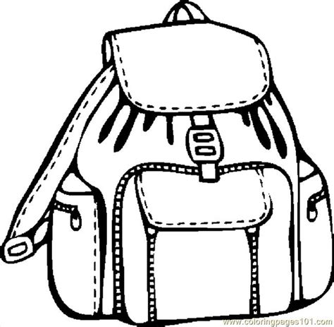 free coloring pages of backpack