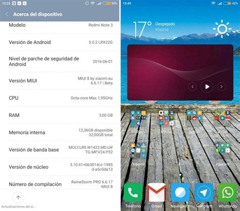 customize themes in miui 6 rainestorm pro v2 based on miui 8 v6 6 17 for redmi note 3