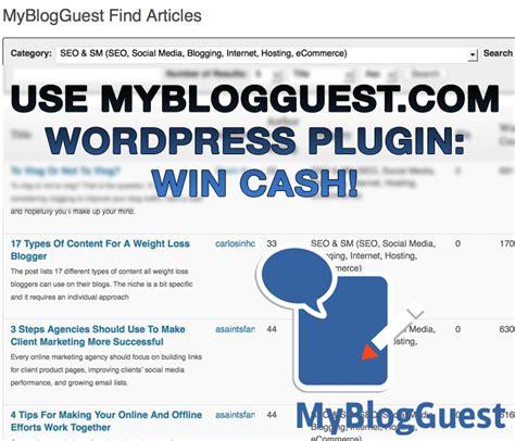 design contest plugin wordpress use guest blogging plugin gt win cash myblogguest spring