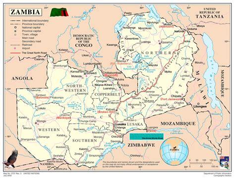 zambia map sambia karte st 228 dte