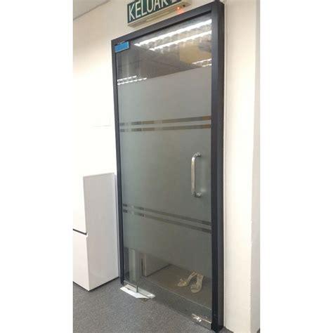Tempered Glass Door frameless 12mm tempered glass door leading office