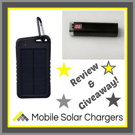 Giveaways Uk - review of a msc 5000mah water resistant sport solar charger a msc power stick