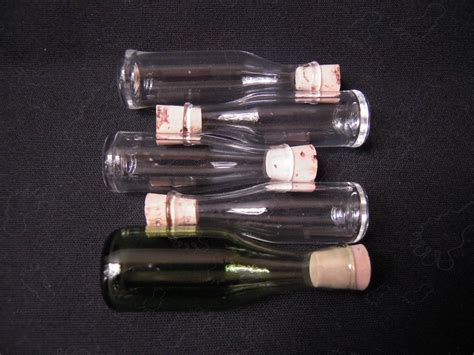 hand blown oil ls handblown mini wine bottles