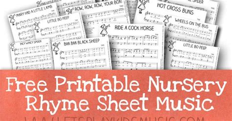 printable nursery rhyme stationary free resources free sheet music and theory printables