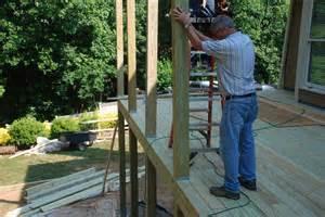 decks building a shed roof a deck