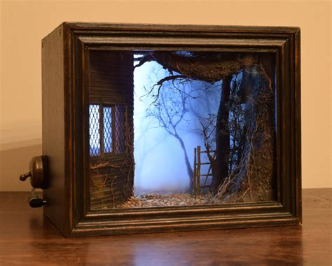 Handmade Shadow Boxes - the witch banished in 1861 original handmade shadow box