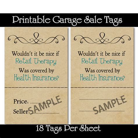 Price Tags For Garage Sale by Printable Garage And Yard Sale Price Tags Tips On How To