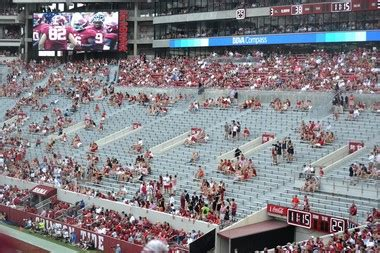 bryant denny stadium student section alabama suspends 20 of 36 block seating sections in bryant