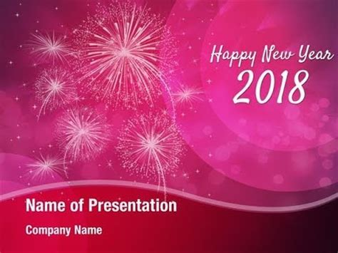 microsoft powerpoint new year theme happy new year 2018 design powerpoint template backgrounds