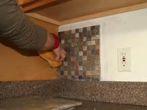 Kitchen Tile Backsplash Installation Installing Glass Wall Tile Kitchen Backsplash Best Home